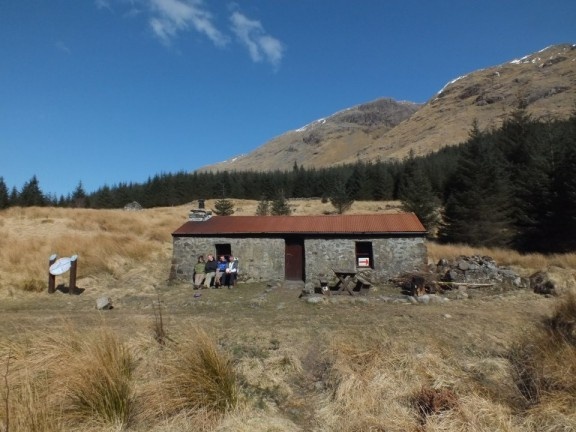 This was the Bothy where we spent a drunken evening