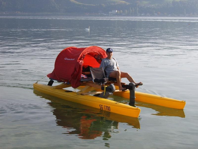 мотор с педалями для лодки