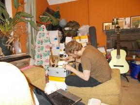 Will hard at work in his laboratory/tarantula sanctuary/vivarium