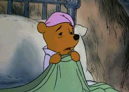 winnie the pooh in bed cold